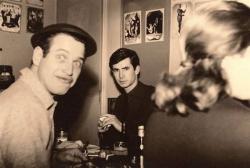 Пол Ньюман и Энтони Перкинс в Париже, 1961 год