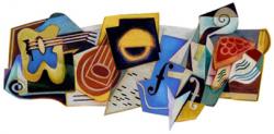 Хуан Грис на праздничном логотипе Google