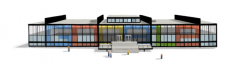 Людвиг Мис ван дер Роэ на праздничном логотипе Google