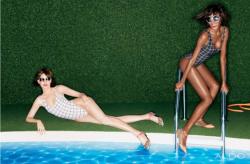 Эмили Ди Донато и Джордан Данн в рекламе коллекции обуви и аксессуаров ALDO весна-лето 2013