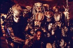 "Дэнни Гловер на съемках фильма ""Хищник 2"", 1989 год"