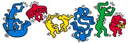 Кит Харинг на праздничном логотипе Google
