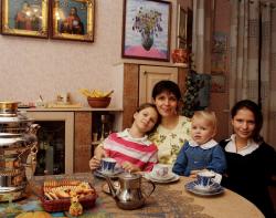 Ольга Богомолец с дочерьми