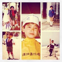 Синдзи Кагава в детстве