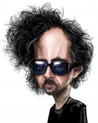 Карикатуры на Тима Бертона