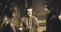 """Майкл Китон, Джек Николсон и Тим Бертон на съемках фильма """"Бэтмен"""", 1989 год"""