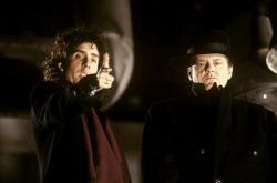 """Тим Бертон и Джек Николсон на съемках фильма """"Бэтмен"""", 1989 год"""