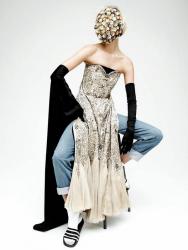 Карли Клосс для журнала Interview, октябрь 2013