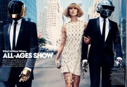 Карли Клосс и Daft Punk для журнала VOGUE US, август 2013