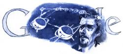 Юрий Кондратюк на праздничном логотипе Google