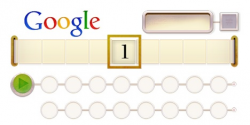 Алан Тьюринг на праздничном логотипе Google