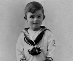 Алан Тьюринг в детстве
