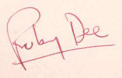 Автограф Руби Ди