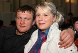 Роман Гонтюк и его жена Людмила Марченко