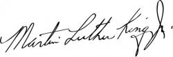 Автограф Мартина Лютера Кинга