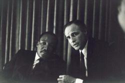 Мартин Лютер Кинг и Марлон Брандо, 1968 год