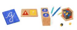 Мария Монтессори на праздничном логотипе Google