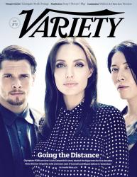 Анджелина Джоли с актерами фильма «Несломленный» для Variety, ноябрь 2014