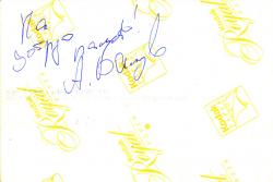 Автограф Александра Балуева