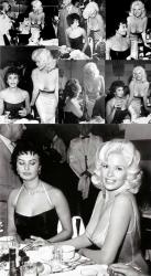 Софи Лорен и Джейн Мэнсфилд, 1957 год