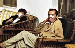 "Роман Полански и Джек Николсон на съемках фильма ""Китайский квартал"", 1974 год"