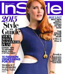 Джессика Честейн для InStyle USA, январь 2015