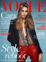 Кара Делевинь для Vogue UK, январь 2014