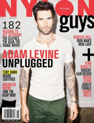 Адам Левин на обложках журналов
