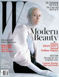 Тильда Суинтон на обложках журналов