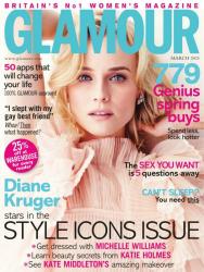 Дайан Крюгер для Glamour UK Март 2013