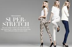 Магдалена Фраковяк для рекламной кампании H&M TROUSERS SUPER-STRETCH