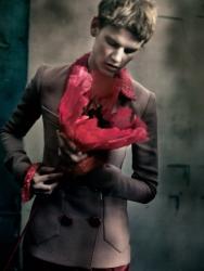 Саския Де Брау для коллекции Purple Fashion, осень 2013