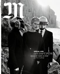 Саския Де Брау и Daft Punk в фотосессии для M Le Monde, декабрь 2013