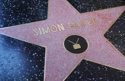 Звезда Саймона Бейкера на Аллее славы в Голливуде
