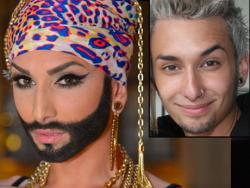 Кончита Вюрст без макияжа