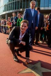 Звезда Даниэля Брюля на Аллее славы в Берлине