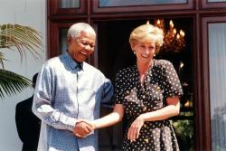 Нельсон Мандела и Принцесса Диана за несколько недель до ее трагической гибели, 1997 год