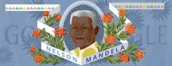 Нельсон Мандела на праздничном логотипе Google