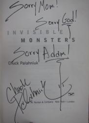 Автограф Чака Паланика