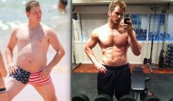 Крис Прэтт до и после похудения