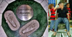 Отпечатки ног Роналдо