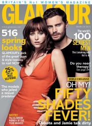 Дакота Джонсон и Джейми Дорнан для Glamour UK, март 2015