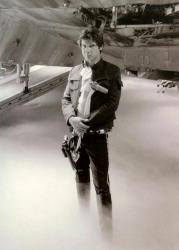 """Харрисон Форд на съемках фильма """"Звездные войны: Эпизод 5 – Империя наносит ответный удар"""", 1979 год"""