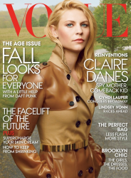 Клэр Дейнс для журнала VOGUE US, август 2013