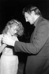 Хелен Миррен и Лиам Нисон на вечеринке в отеле Хилтон, Лондон, 1982 год