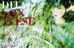 Дита Фон Тиз для итальянского выпуска журнала VOGUE BEAUTY SUPPLEMENT, ноябрь 2013