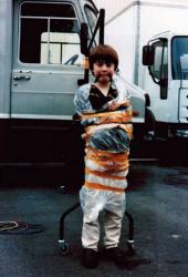 """Дэниел Редклифф на съемках фильма """"Дэвид Копперфилд"""", 1999 год"""