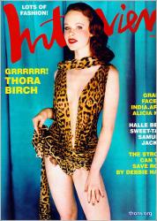 Тора Бирч на обложках журналов