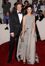 Колин Ферт с женой