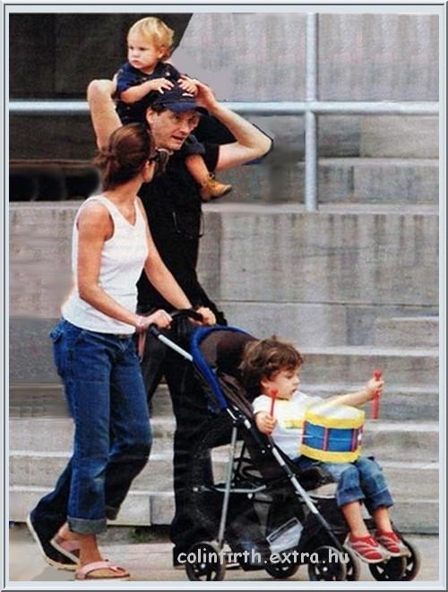 Колин и Ливия Ферт с детьми